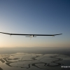 Mountain Mountain View, California, United States: Solar Impulse's HB-SIA prototype, with Bertrand Piccard at the controls, is starting the crossing of America. First leg is Moffett Airfield at the Ames Research Center of NASA to Phoenix Sky Harbour Airport. Solar Impulse will fly across America in stages over May-June-July from San Francisco to Washington D.C. and New York City. © Fred Merz / Rezo.ch / Solar Impulse