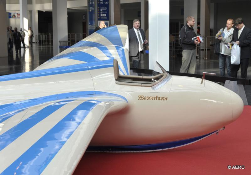 Foyer West: DFS Habicht Segelflugzeug für Kunstflug.Oldtimer Segelflugclub Wasserkuppe.