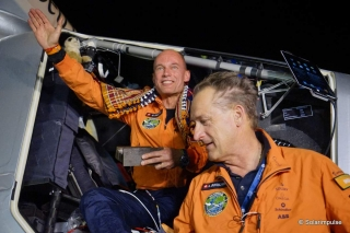 Solar Impulse lands in Ahmedabad, India completing first part of round-the-world journey