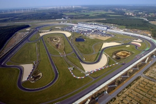 Aerial view of the EuroSpeedway Lausitz. A1 Grand Prix, Rd2, Lausitzring, Germany, Race Day, 9 October 2005. DIGITAL IMAGE