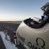 20120724_Crossingsfrontiers_toulousetakeoff_BP_revillard Solar impulse piloté par Bertrand Piccard a decollé aujourd'hui de Toulouse pour la derniere etape de son voyage intercontinental vers payerne
