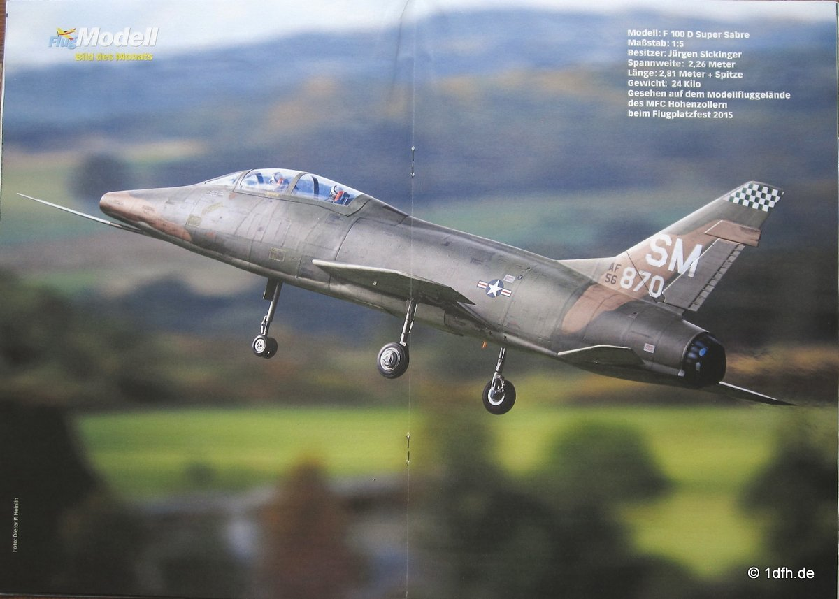 FlugModell 06/16 F 100 D Super Sabre