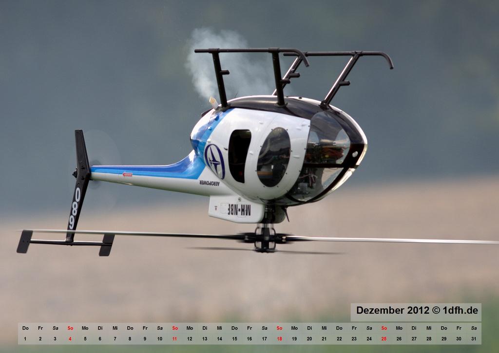 Kalender 2012 Hubschrauber Original und Modell