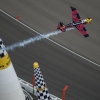 Kirby Chambliss of the United States performs during the finals of the eighth stage of the Red Bull Air Race World Championship at the Las Vegas Motor Speedway in Las Vegas, Nevada, United States on October 18, 2015.