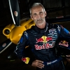 Hungarian pilot Peter Besenyei poses for a photograph during the Red Bull Air Race World Series in Abu Dhabi, United Arab Emirates on February 23, 2014.