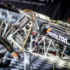 Airplane of the pilot Nicolas Ivanoff seen in the hangar prior the Red Bull Air Race World Championship in Abu Dhabi, United Arab Emirates on February 6, 2015.