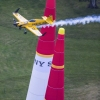 Nigel Lamb of Great Britain performs during the training for the fifth stage of the Red Bull Air Race World Championship in Ascot, Great Britain on August 15, 2014.