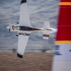 Matthias Dolderer of Germany performs during the training session for the seventh stage of the Red Bull Air Race World Championship at the Las Vegas Motor Speedway in Las Vegas, Nevada, United States on October 10, 2014.
