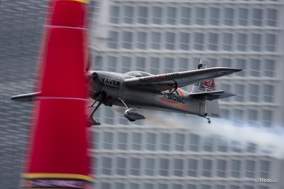 Hannes Arch of Austria performs during the training for the third stage of the Red Bull Air Race World Championship in Putrajaya, Malaysia on May 16, 2014.