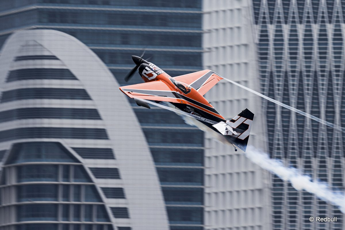 Nicolas Ivanoff of France performs during the third stage of the Red Bull Air Race World Championship in Putrajaya, Malaysia on May 18, 2014.