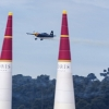 Peter Besenyei of Hungary performs during the training for the second stage of the Red Bull Air Race World Championship in Rovinj, Croatia on April 11, 2014.