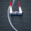 Hannes Arch of Austria performs during the qualifying for the second stage of the Red Bull Air Race World Championship in Rovinj, Croatia on April 12, 2014.