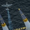 Hannes Arch of Austria flies during the finals of the second stage of the Red Bull Air Race World Championship in Rovinj, Croatia on April 13, 2014.