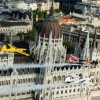 Peter Besenyei of Hungary leads Francois Le Vot of France and Martin Sonka of the Czech Republic during the Recon flight over the Parliament Building prior to the Red Bull Air Race World Championship in Budapest, Hungary on July 02, 2015.
