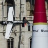 Michael Goulian of the United States performs during the finals of the fourth stage of the Red Bull Air Race World Championship in Budapest, Hungary on July 5, 2015.