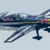 Danniel Ryfa of Sweden performs during the Challenger Cup of the third stage of the Red Bull Air Race World Championship in Rovinj, Croatia on May 31, 2015.