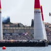Kirby Chambliss of the United States performs during the finals of the third stage of the Red Bull Air Race World Championship in Rovinj, Croatia on May 31, 2015.