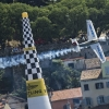 Yoshihide Muroya of Japan performs during the finals of the third stage of the Red Bull Air Race World Championship in Rovinj, Croatia on May 31, 2015.