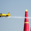 Nigel Lamb of Great Britain performs during the finals of the third stage of the Red Bull Air Race World Championship in Rovinj, Croatia on May 31, 2015.