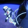 Pilot Felix Baumgartner of Austria jumps out of the capsule during the final manned flight for Red Bull Stratos in Roswell, New Mexico, USA on October 14, 2012.