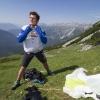Sebastian Huber (GER3) prepares during Red Bull X-Alps in Lermoos, Austria on July 7th 2015