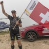 Christian Maurer (SUI1) at the finish line during the Red Bull X-Alps Peille, France on July 13th 2015