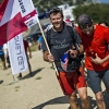 Paul Guschlbauer of Austria arrives in Peille at the Red Bull X-Alps, France on July 14 2015.