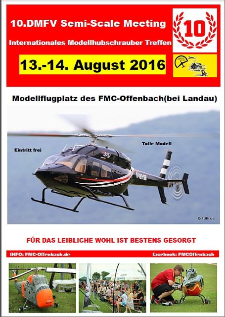 10. Semi Scale Hubschraubermeeting FMC Offenbach 13.08.-14.08.2016