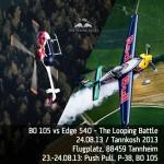 Weltpremiere bei Tannkosh 2013 Helikopter vs. Kunstflugzeug