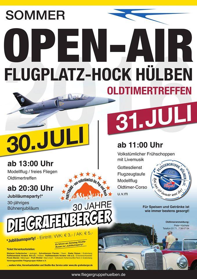 Flugplatzhock mit Modellflugvorführung Hülben 2016