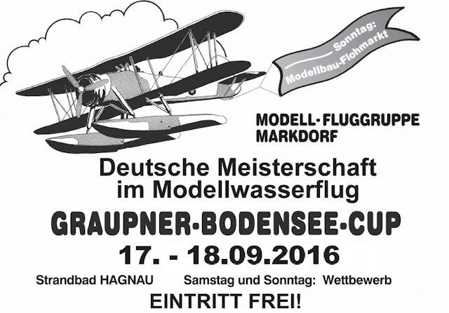 38. Graupner Bodenseecup 2016 am 17. / 18.9.2016