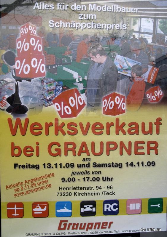 Graupner Werksverkauf Oktober 2011