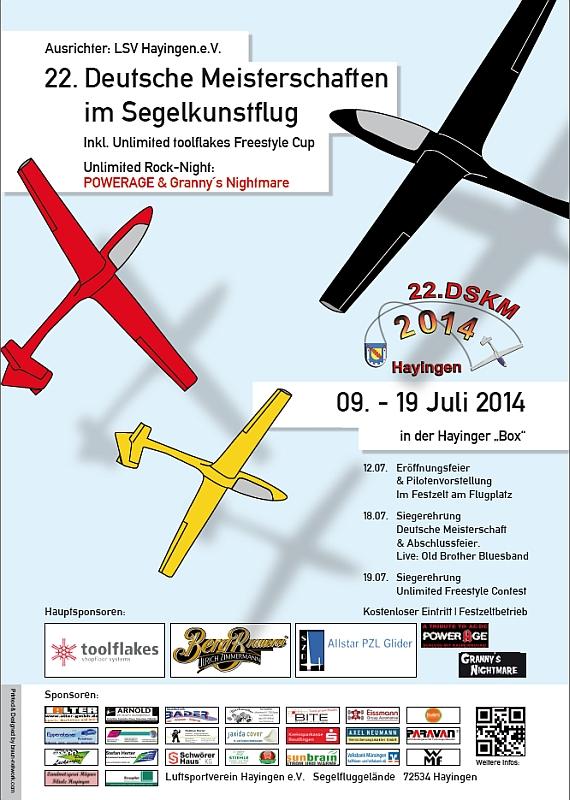 22. Deutsche Meisterschaft Segelkunstflug 2014