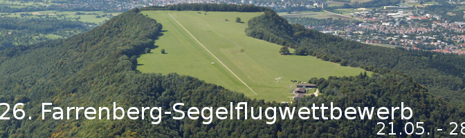 26. Farrenberg-Segelflugwettbewerb 21.05. – 28.05.2016