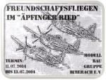 Freundschaftsfliegen Modellbaugruppe Biberach e.V. 11.07. – 13.07.2014