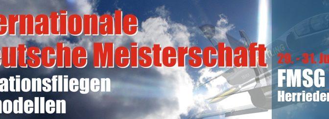 5. Internationale Deutsche Meisterschaft im Formationsfliegen mit Jetmodellen 29.07. – 31.07.2016