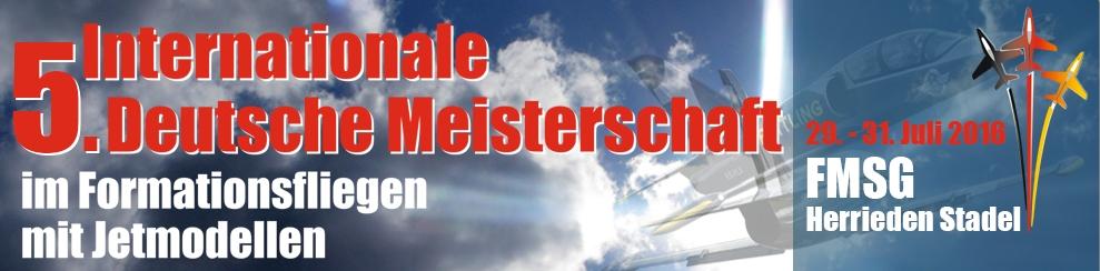 5. Internationale Deutsche Meisterschaft im Formationsfliegen mit Jetmodellen
