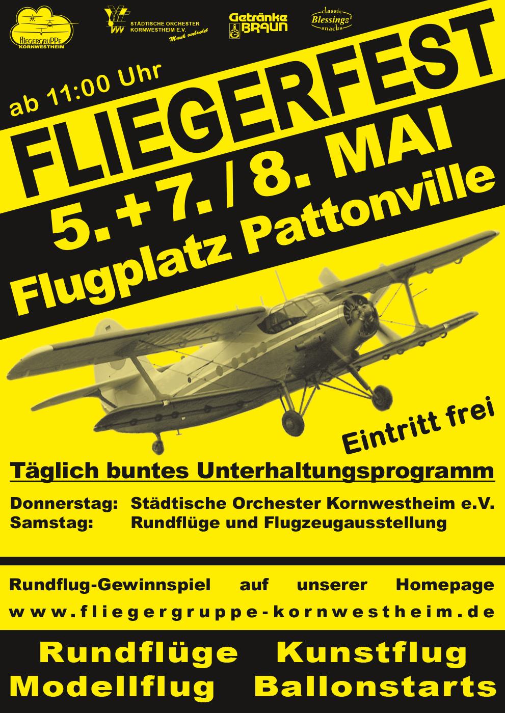 Fliegerfest Kornwestheim Flugplatz Pattonville 2016