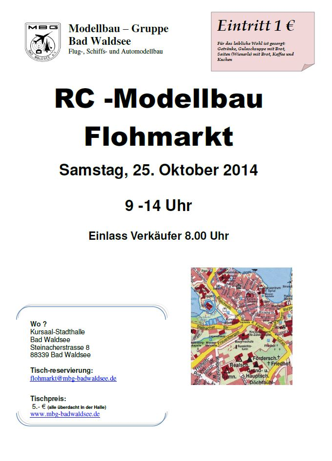 Modellbau-Flohmarkt Bad Waldsee 2014