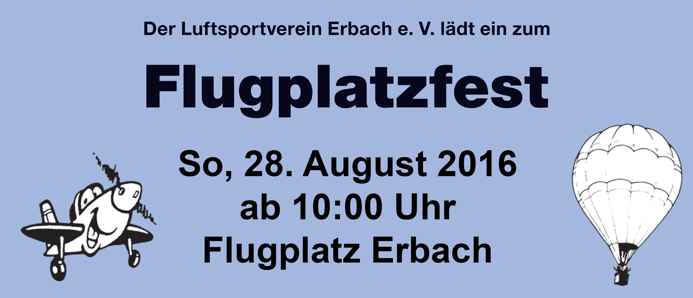 Flugplatzfest LSV Erbach 28.08.2016