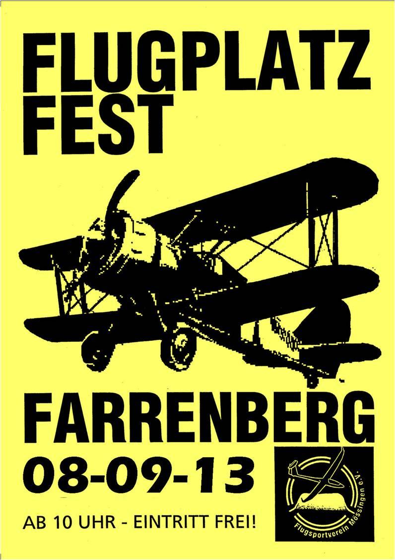 Flugplatzfest Farrenberg 2013