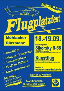 Flugplatzfest Mühlacker 18.09. - 19.09.2010