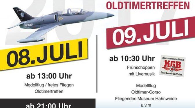 Flugplatzhock mit Modellflugvorführung Hülben 08.07. – 09.07.2017