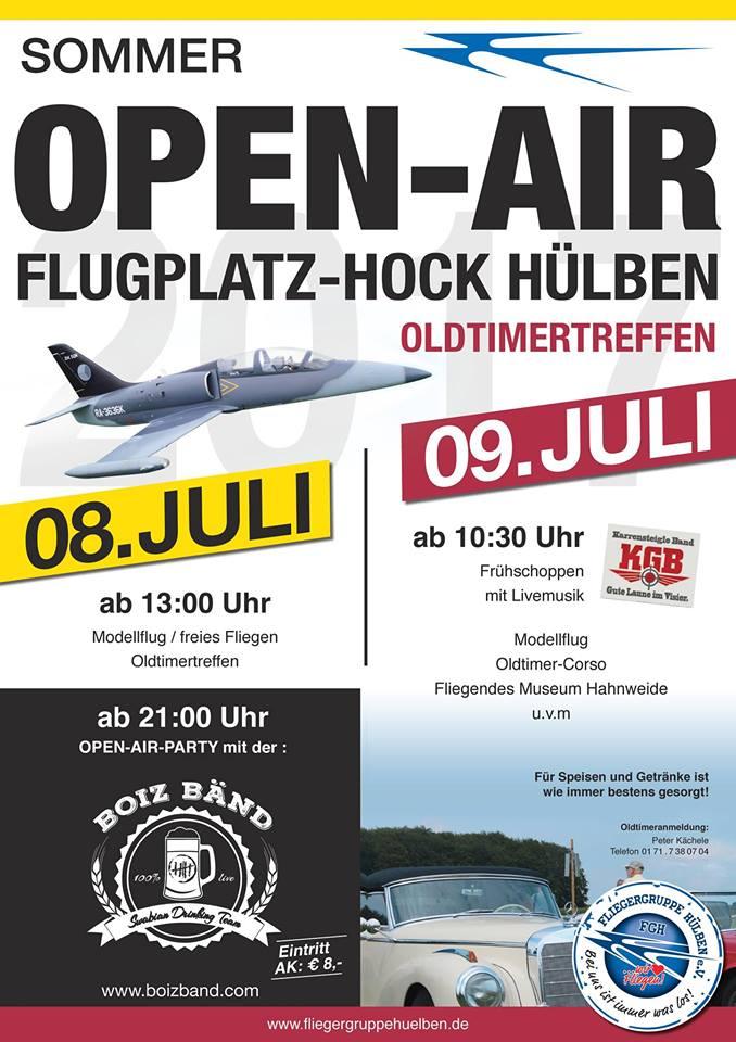 Flugplatzhock mit Modellflugvorführung Hulben 2017