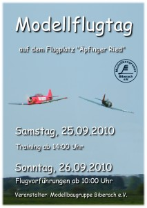 Modellflugtag Modellbaugruppe Biberach e.V.