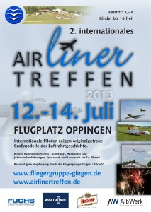 2. internationales  Airlinertreffen Fliegergruppe Gingen/Fils e.V.