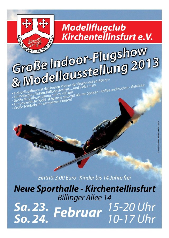 Indoor Modellflugclub Kirchentellinsfurt e.V. 2013