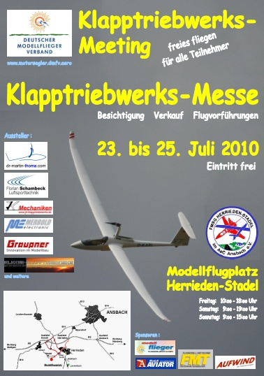 Klapptriebwerks-Messe 23.07. - 25.07.2010