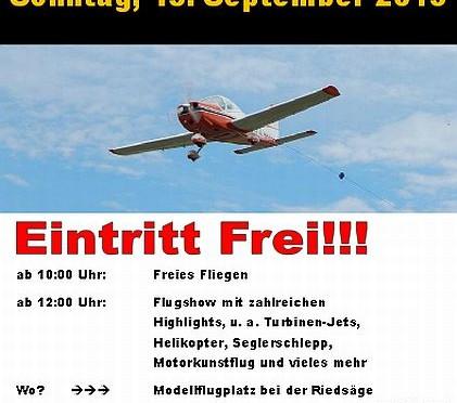 Modellflugtag Modellfluggruppe Bad Saulgau e.V. 13.09.2015