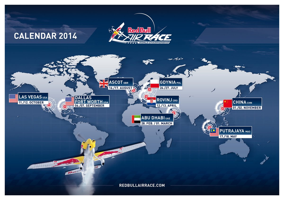 Red Bull Air Race 2014 Calendar